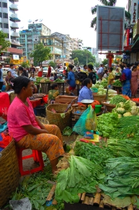 Marked i Yangon, Myanmar. Bilde: Wikipedia
